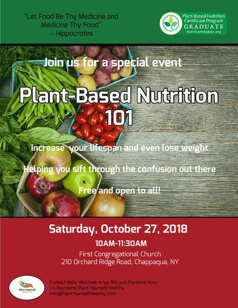 oct 27 · plant based nutrition 101 — nextdoor