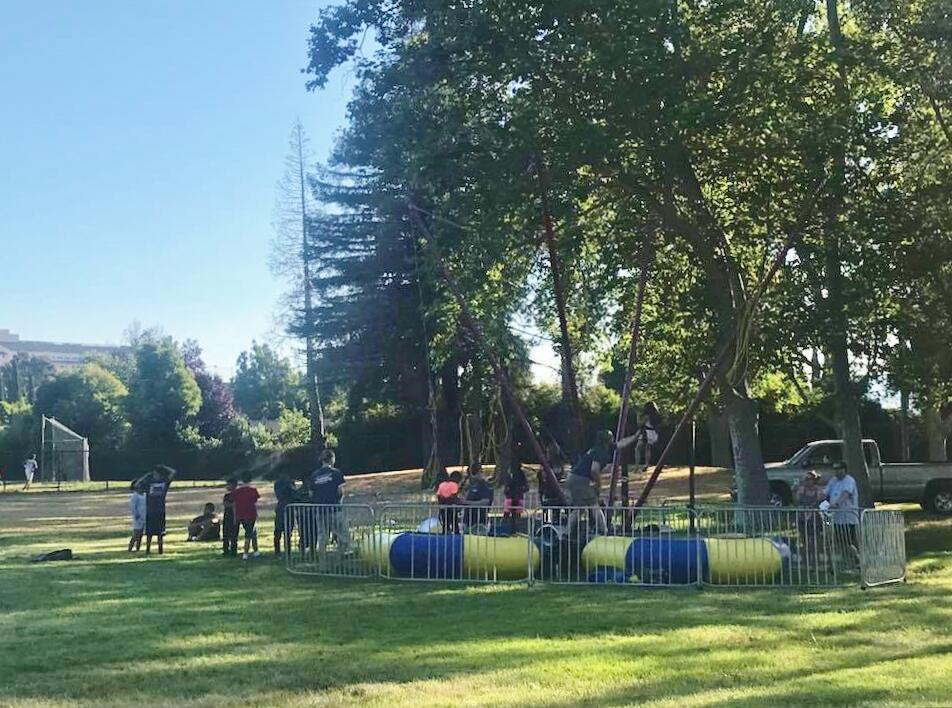 Free Inflatable Obstacle Course Zorb Races More At Hellyer Park