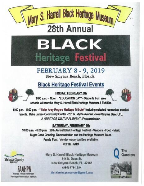 Feb 8 · February 8-9, 2019, 28th Annual Black Heritage