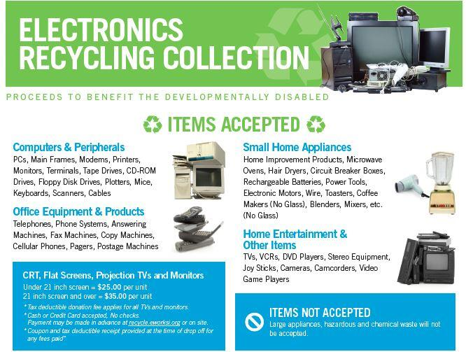 Upcoming Electronics Recycling Event 8/25/18 (Village of