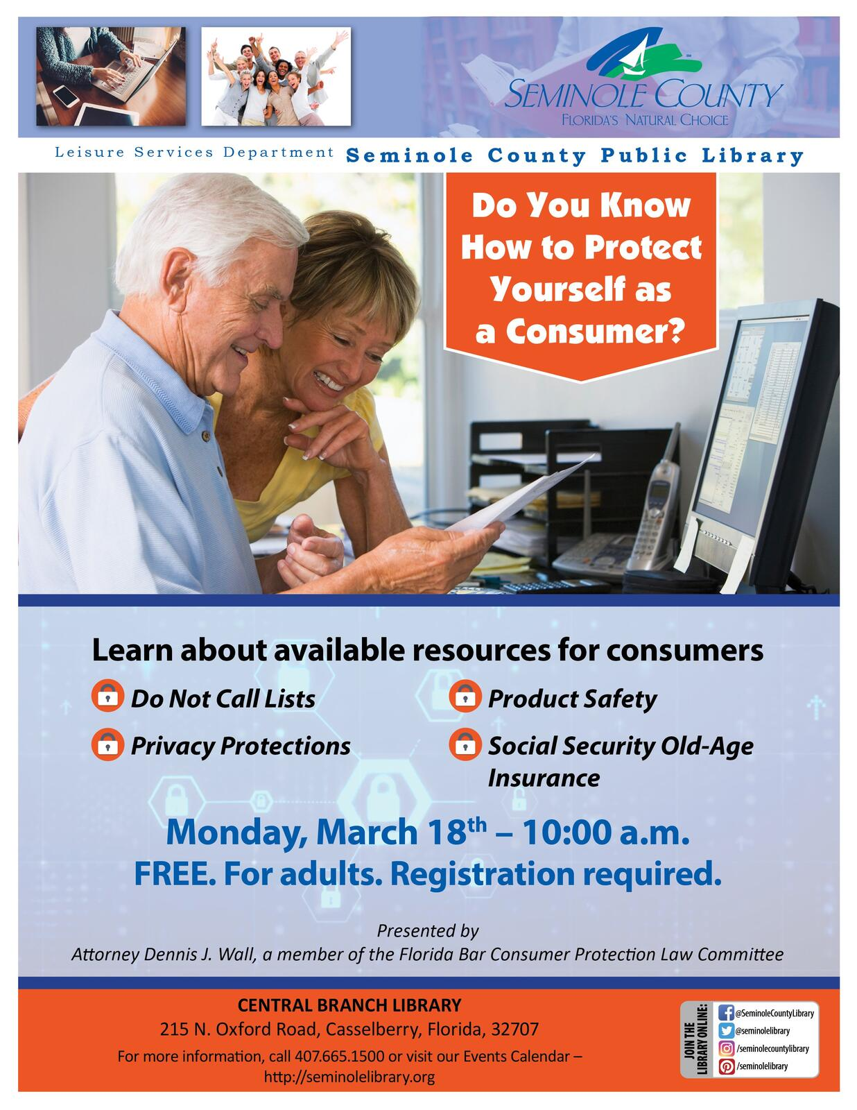 Consumer Protection Awareness @ the Library (Seminole County