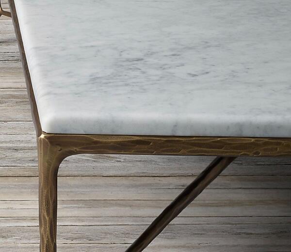 1 000 Restoration Hardware Thaddeus Marble Coffee Table For Sale Free Nextdoor