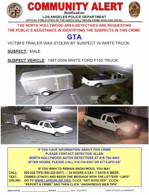 Community Alert (Grand Theft Auto Suspect) (Los Angeles