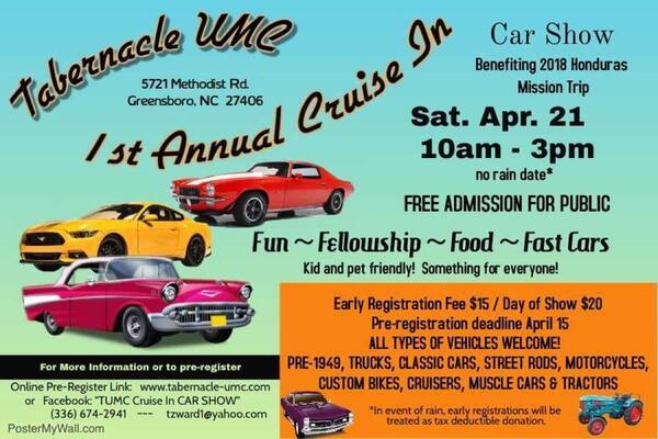 Apr CruiseIn Car Show Nextdoor - Car show greensboro