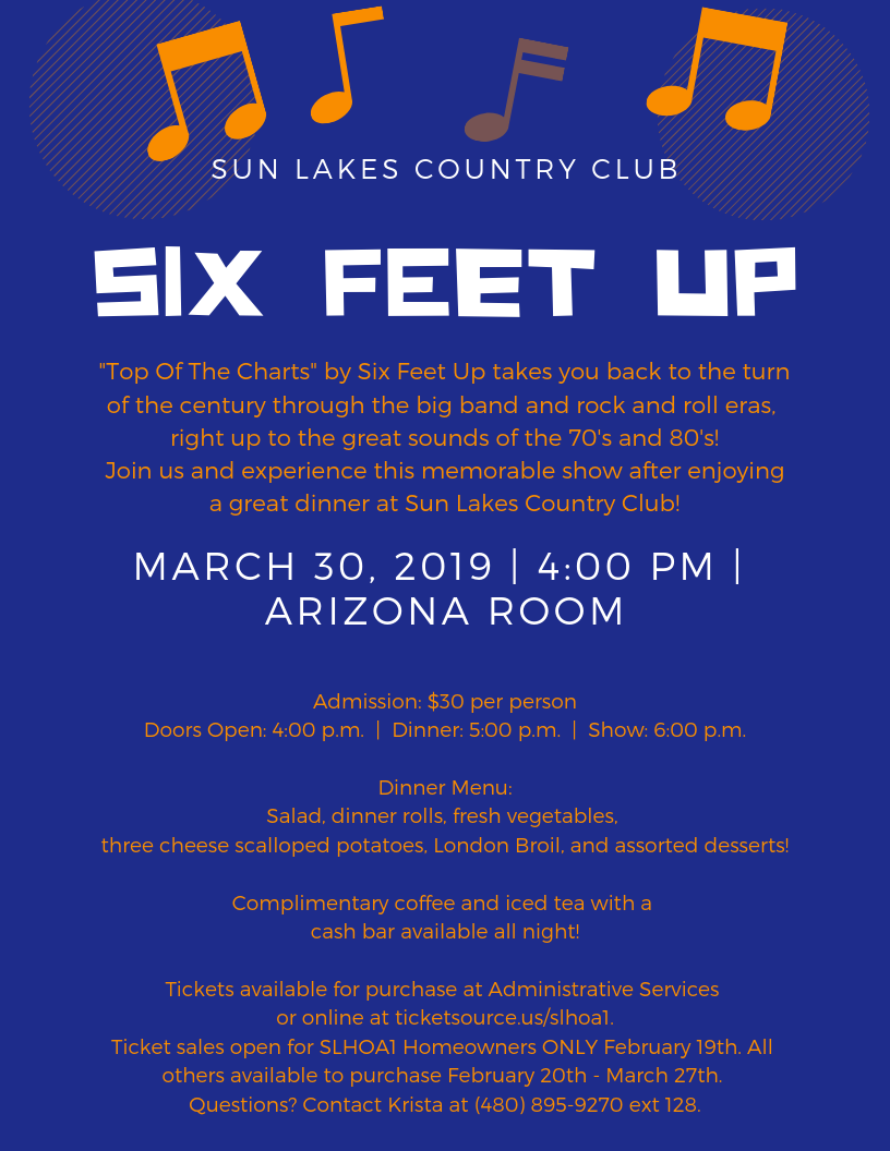 Mar 30 · Dinner and Show by Six Feet Up — Nextdoor