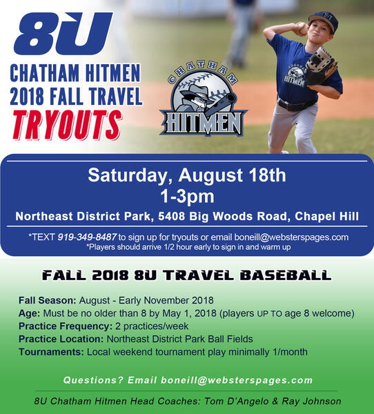 Aug 18 · 8U Fall Travel Baseball TRYOUTS — Nextdoor