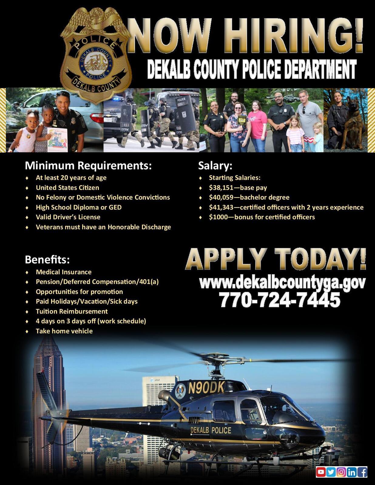 Now Hiring - DeKalb County Police Department (DeKalb County Police  Department)   Nextdoor