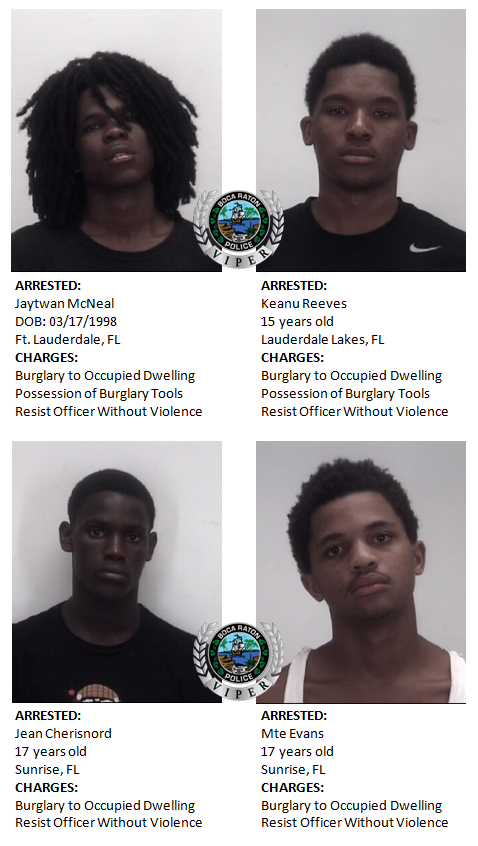 Early morning arrests in your area (Boca Raton Police