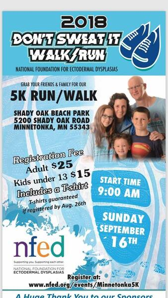 Sep 16 · 5K Fun Run/Walk benefitting the National Foundation