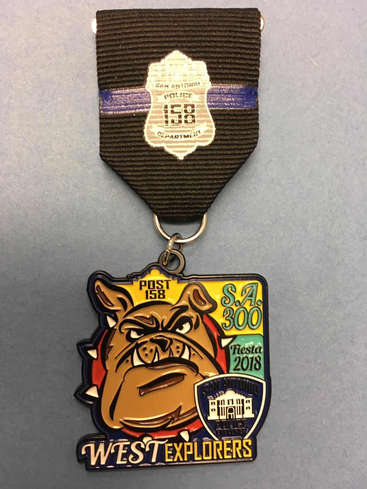 West Patrol Explorers Fiesta Medal (San Antonio Police