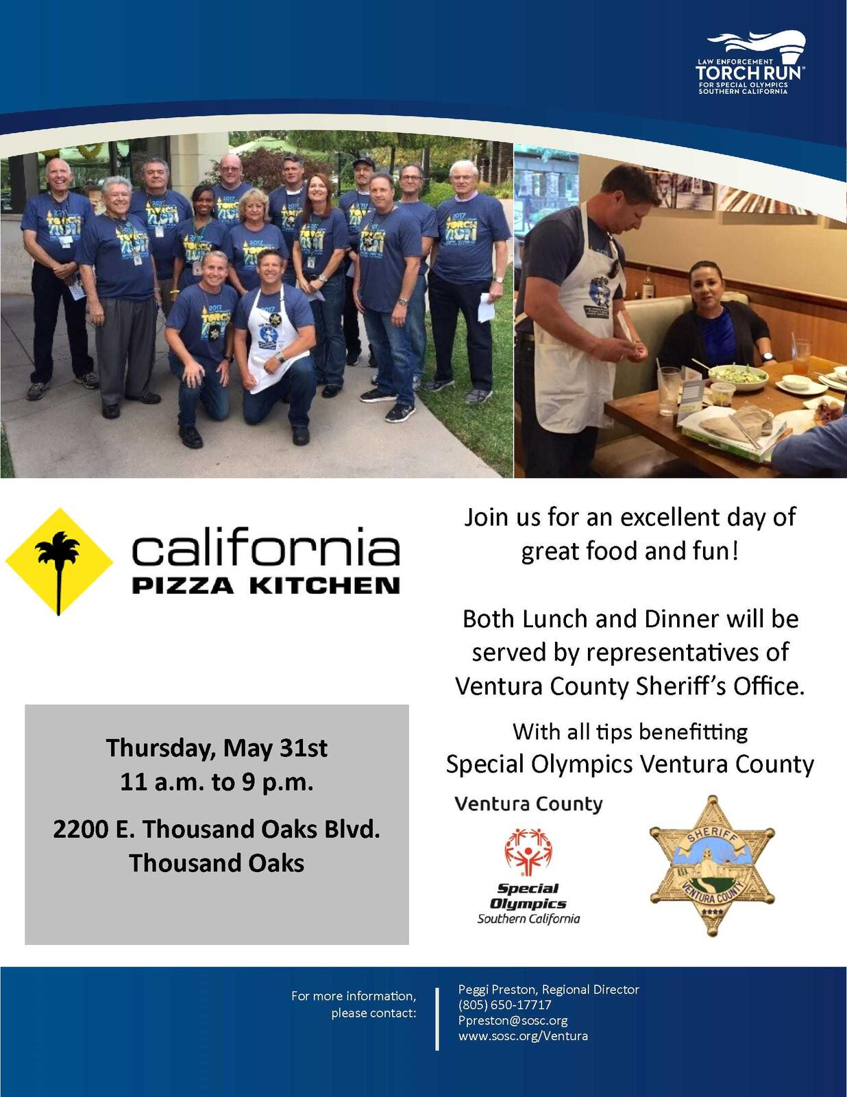 SAVE THE DATE! May 31, 2018: Tip-A-Cop at Thousand Oaks California ...