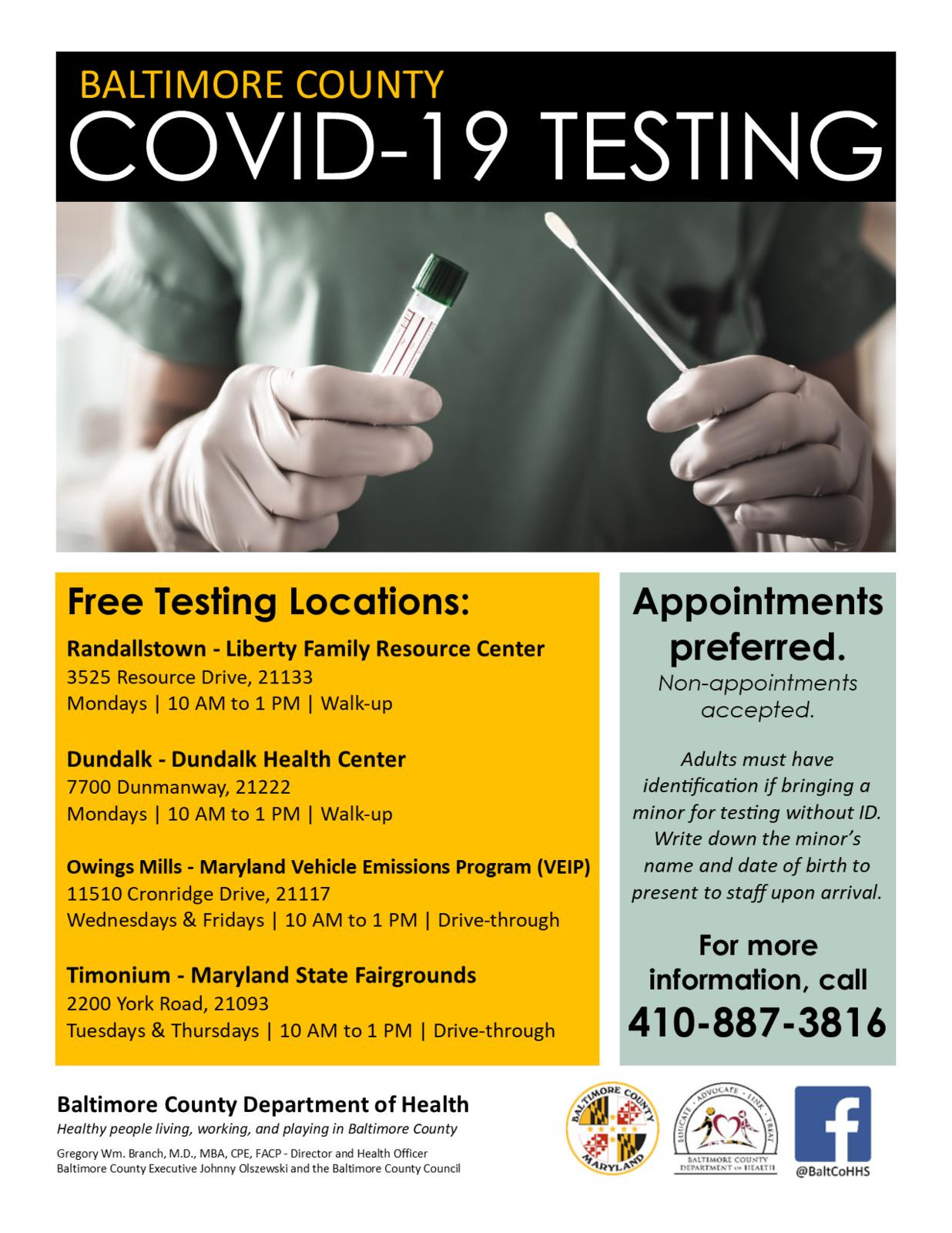 Free Covid 19 Testing Offered Five Days A Week Baltimore County Government Mdash Nextdoor Nextdoor