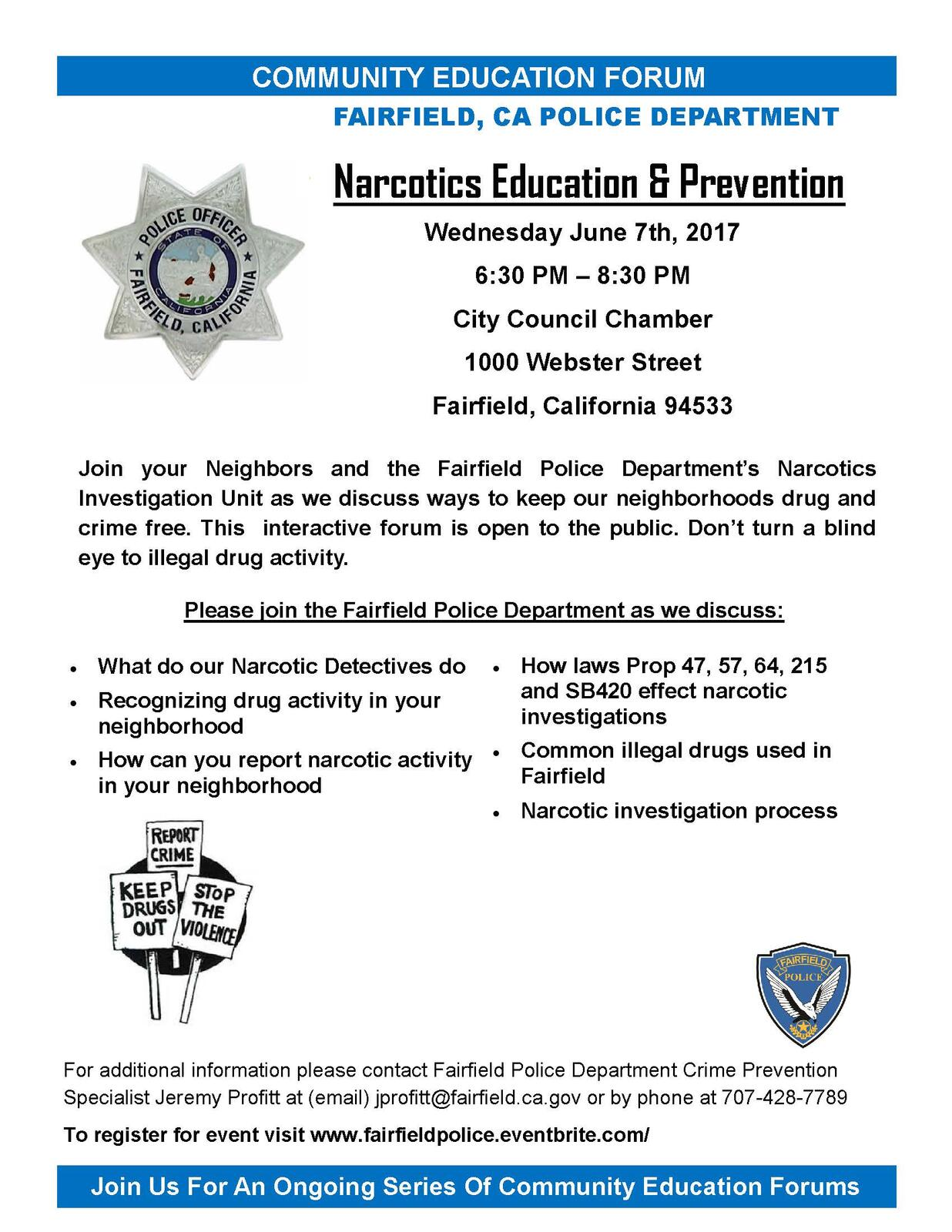 Community Education Forum: Narcotics Education and