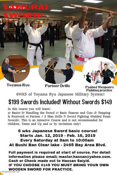 Jan 12 · Samurai Sword Classes — Nextdoor