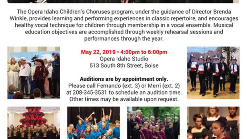 May 22 · Opera Idaho Children's Choruses Auditions — Nextdoor