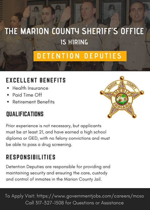 The Marion County Sheriff's Office is hiring Detention