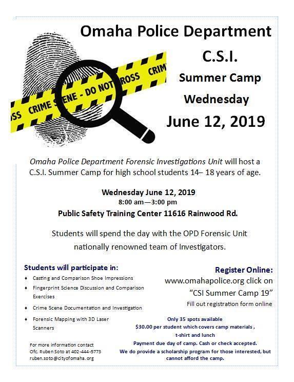 CSI Summer Camp (Omaha Police Department) &mdash