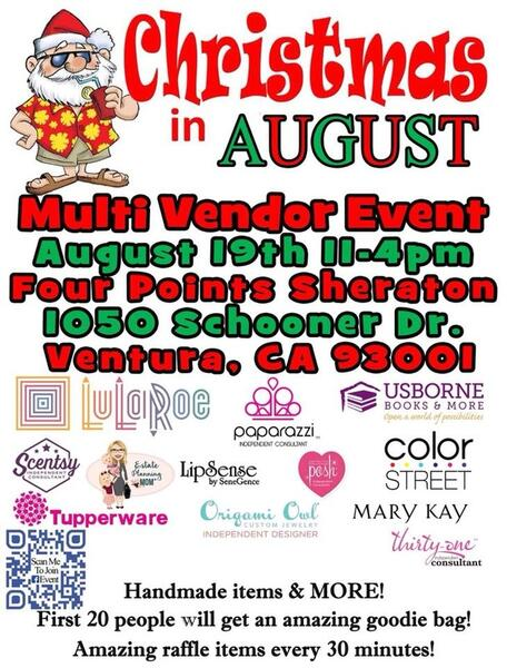 Christmas In August Clipart.Aug 19 Christmas In August Multi Vendor Event Nextdoor