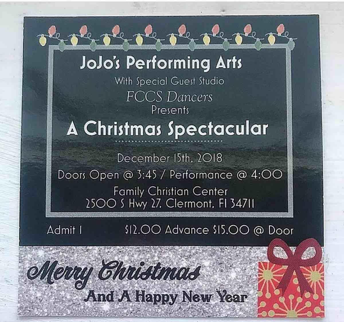 Dec 15 Jojos Performing Arts Christmas Spectacular Nextdoor