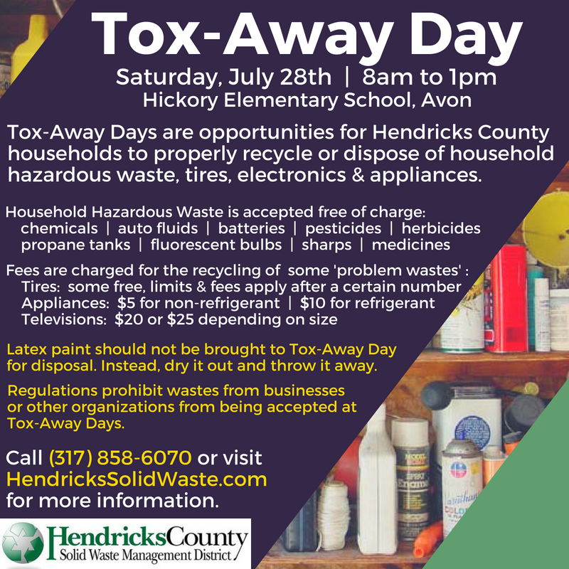 Saturday is Tox-Away Day at Hickory Elementary School in Avon