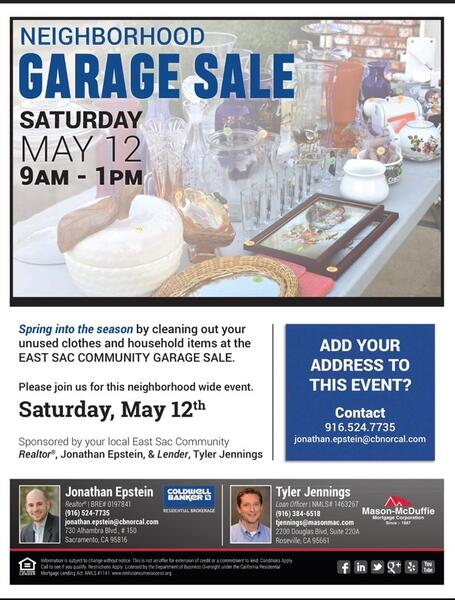 May 12 East Sacramento Garage Sale Nextdoor