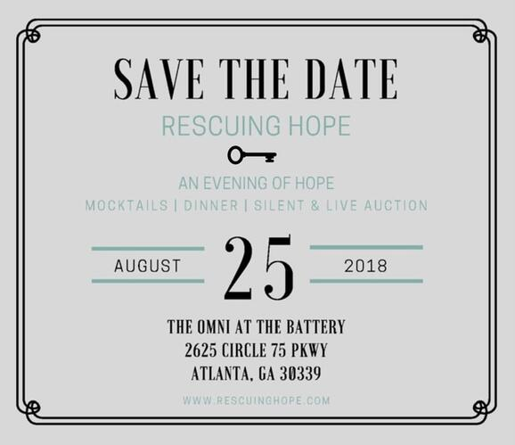 Aug 25 · An Evening of Hope - benefiting sex trafficked
