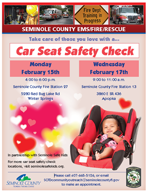 Free Car Seat Safety Checks Today And Wednesday Seminole County