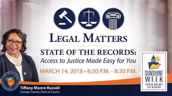 Mar 14 · Orange County Clerk of Courts Legal Matters Forum