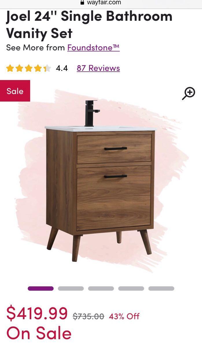 300 Bathroom Vanity Cabinet 24 Mcm Modern Nextdoor