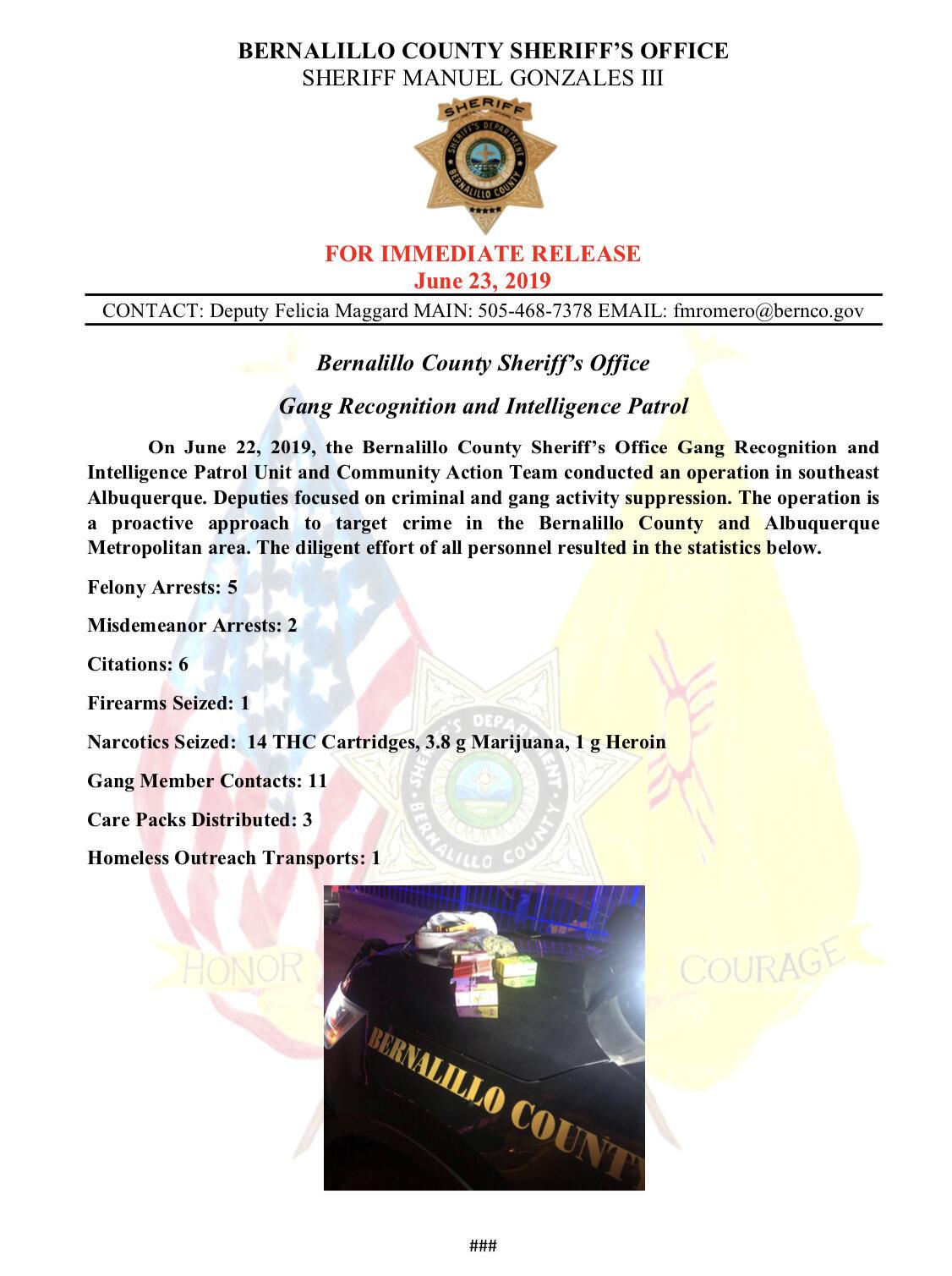 Bernalillo County Sheriffs Office Arrested — BCMA