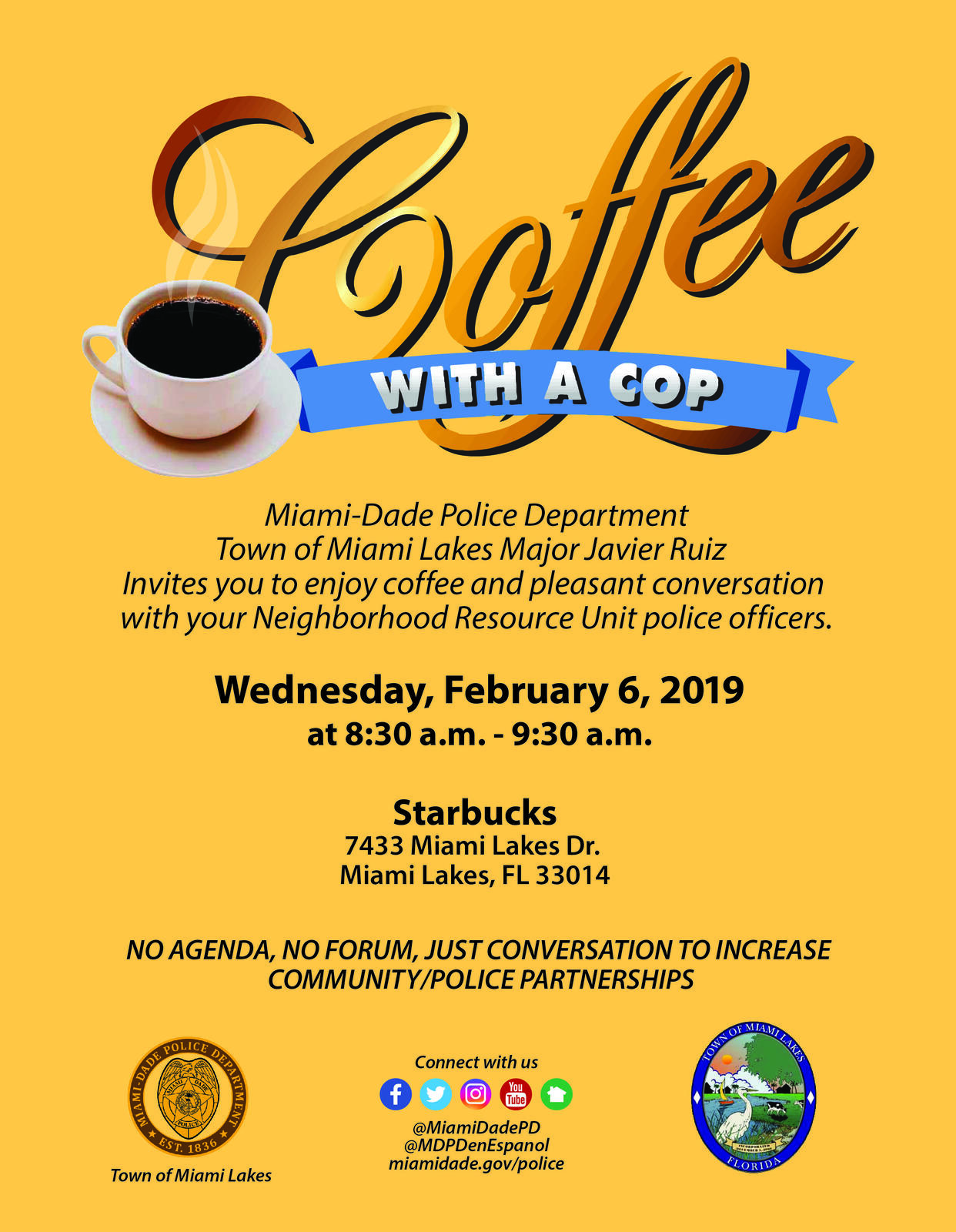 Coffee with a Cop (Miami-Dade Police Department) &mdash