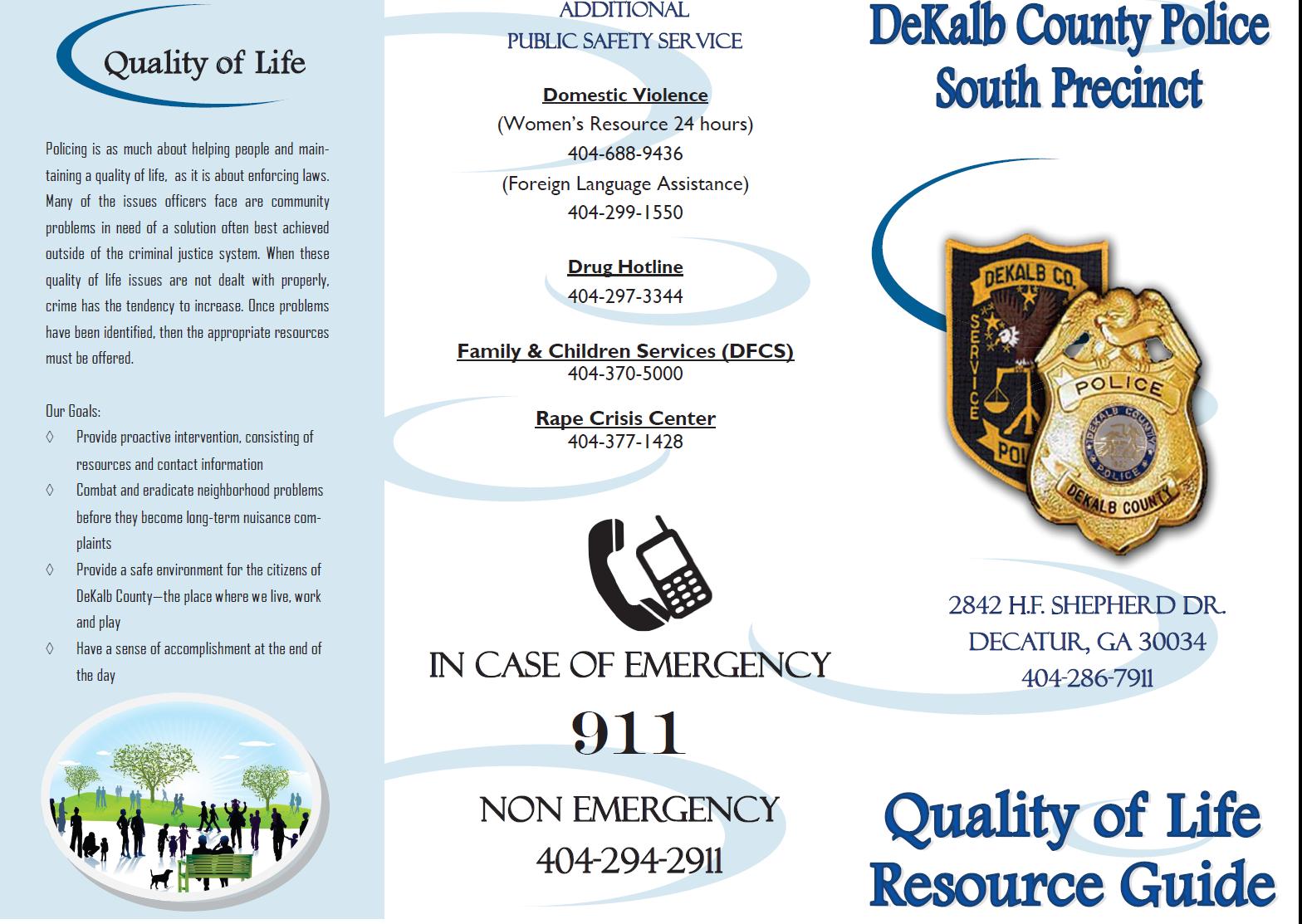 Quality of Life (DeKalb County Police Department) &mdash