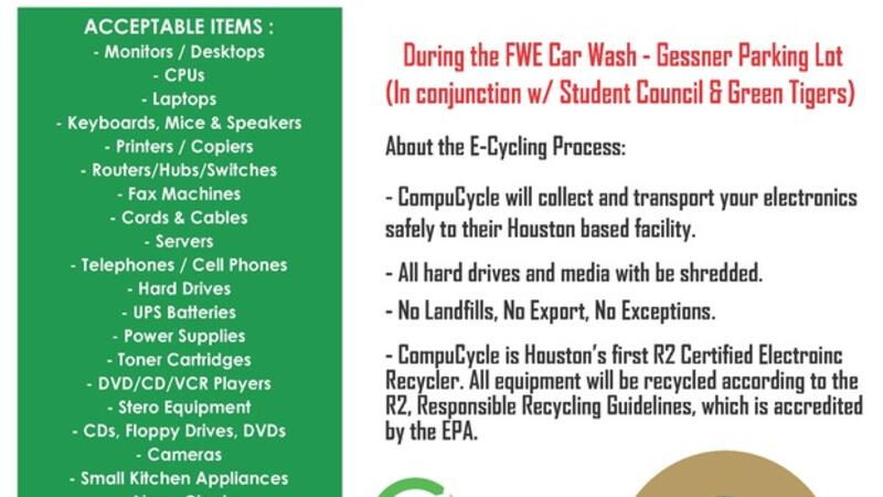 Apr 25 · Electronics Recycling and car wash at Frostwood Elementary