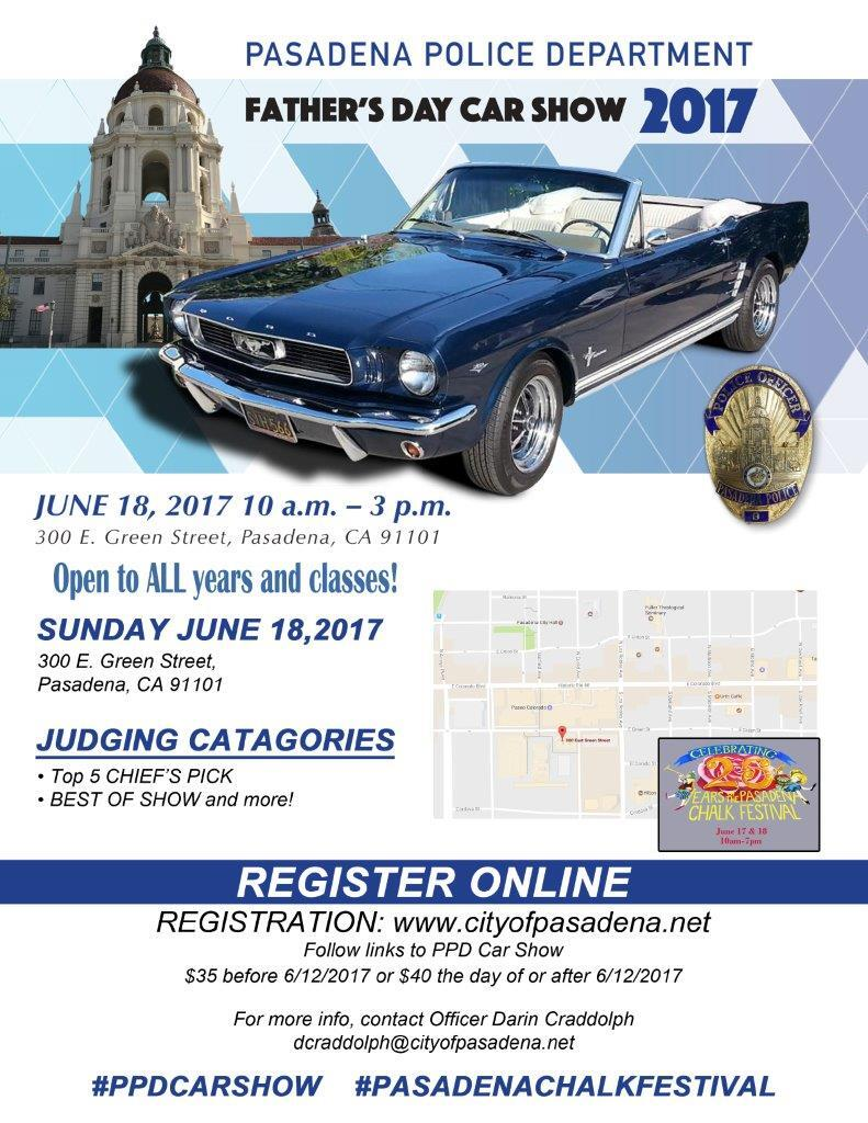Pasadena Police Department Fathers Day Car Show Pasadena Police - Pasadena car show