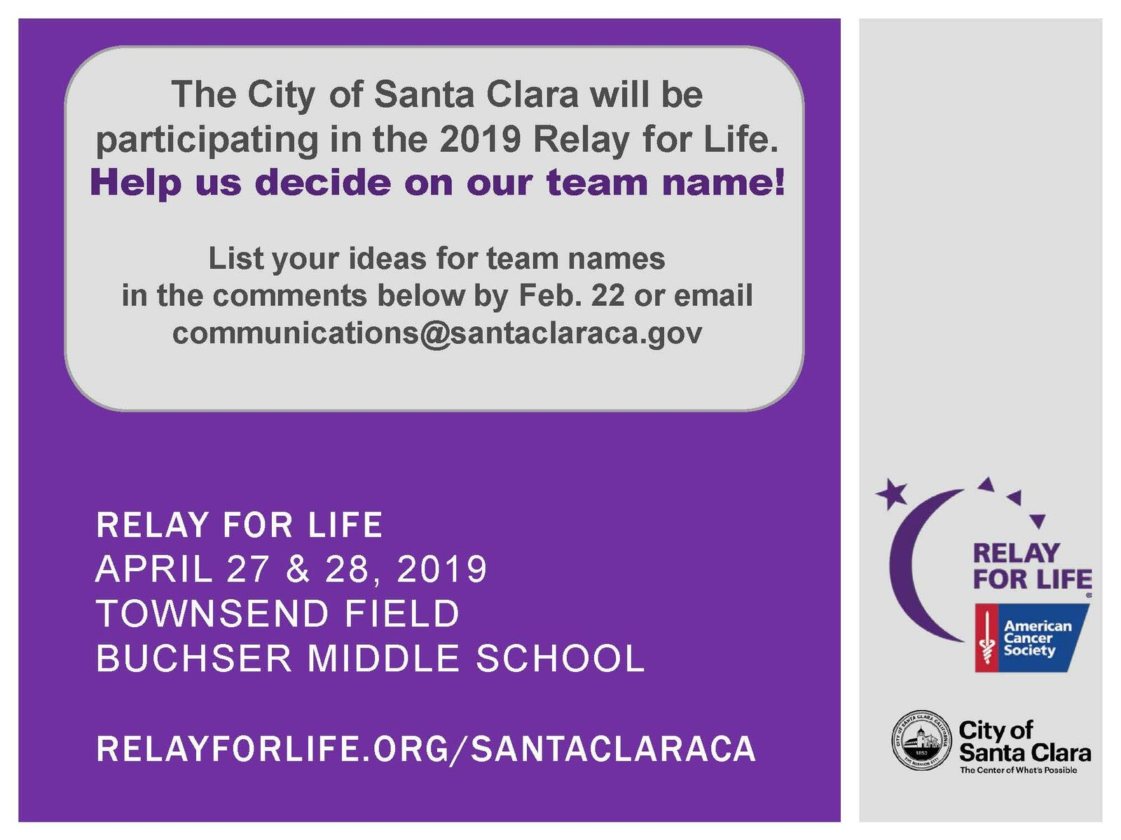 Help us decide on the City of Santa Clara team name for