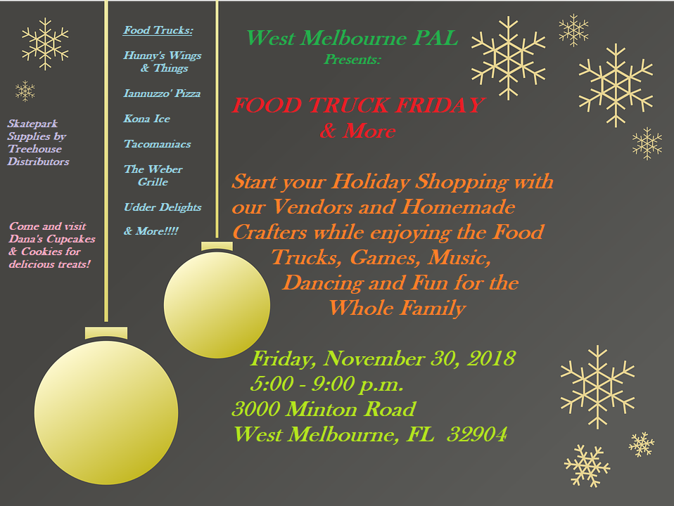 Food Truck Friday Sponsored by PAL (West Melbourne Police