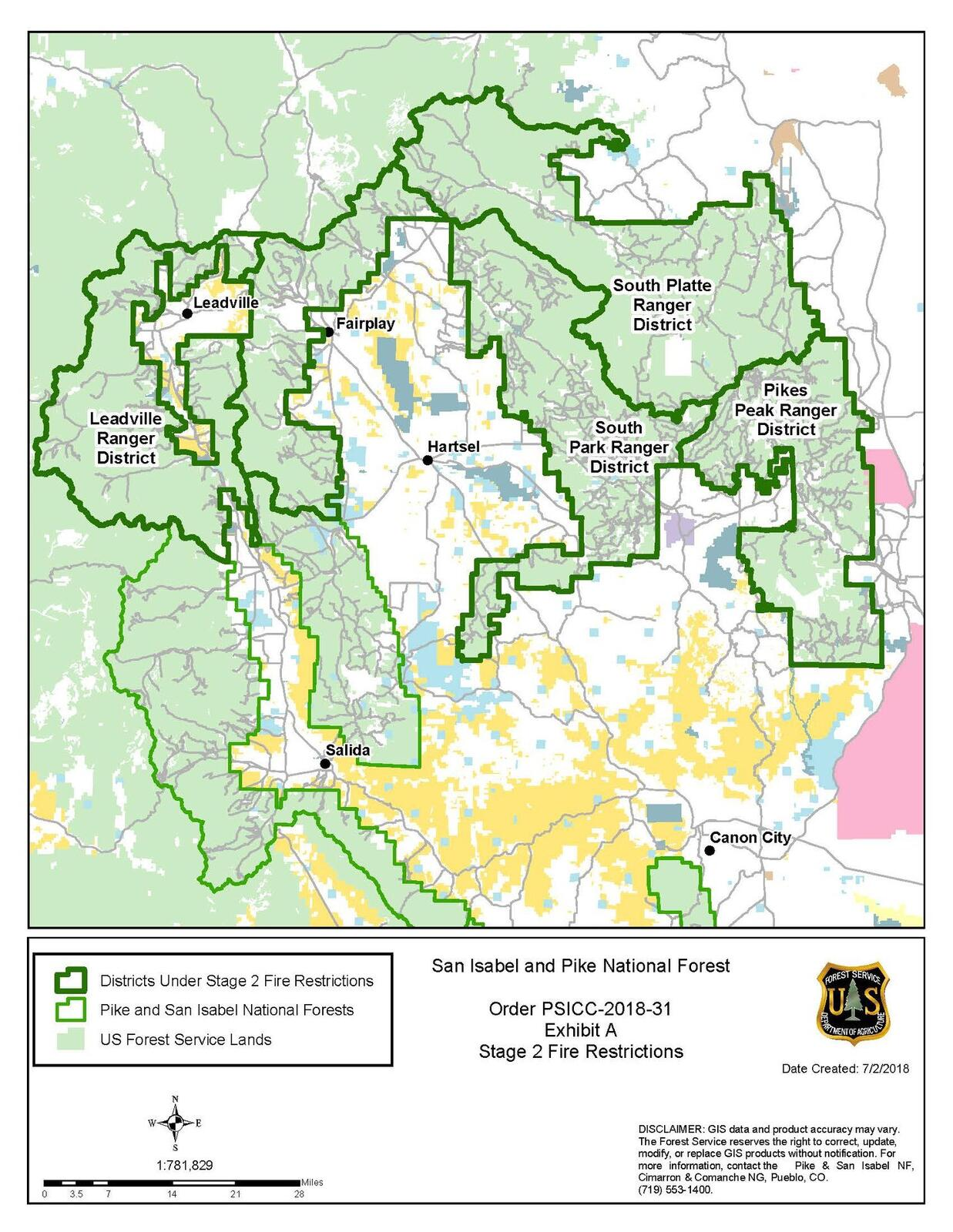 Stage II Burn Restrictions in the Pike National Forest (Tri-Lakes ...