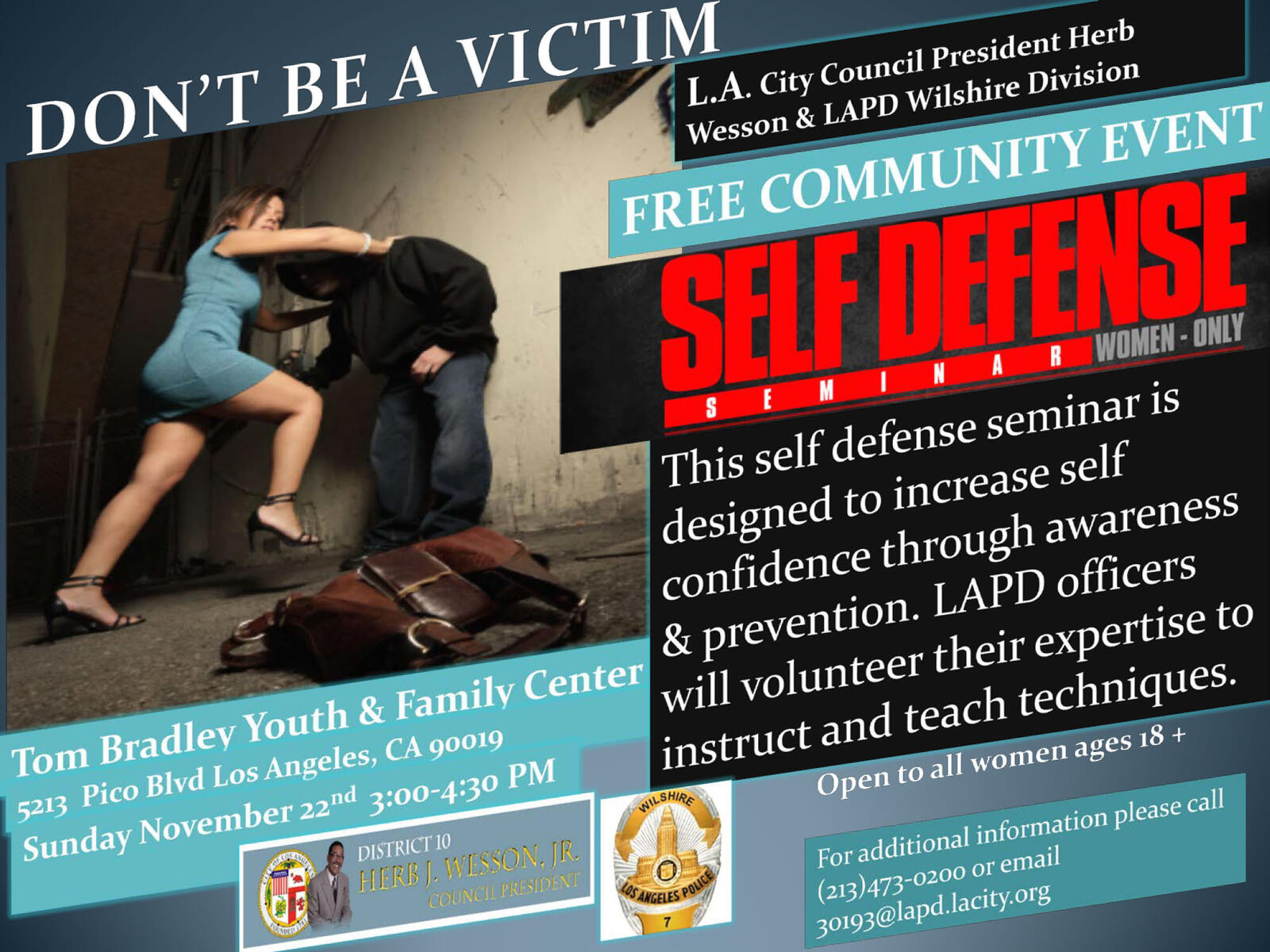 Self Defense Seminar (Los Angeles Police Department) | Nextdoor