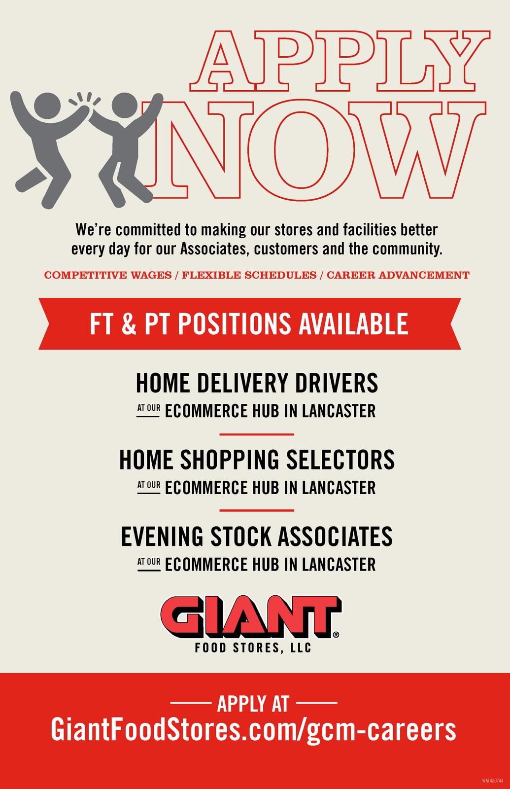 GIANT Hiring for E-Commerce Hub on Reservoir Street (City of