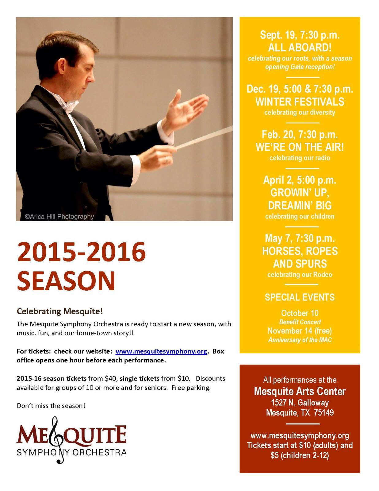 062277d4b2d0 Mesquite Symphony Orchestra begins its concert season Saturday at ...