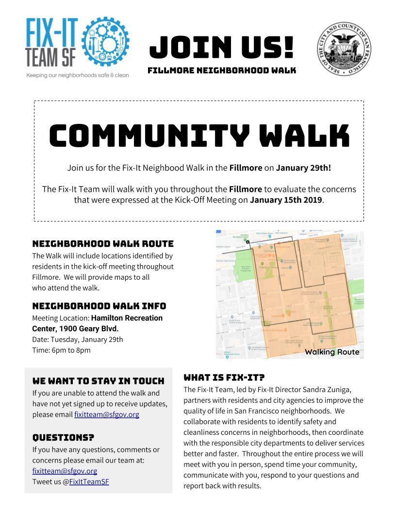 Fillmore Neighborhood Walk (City of San Francisco) | Nextdoor