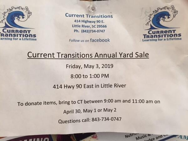 May 3 · Current Transitions Annual Yard Sale — Nextdoor