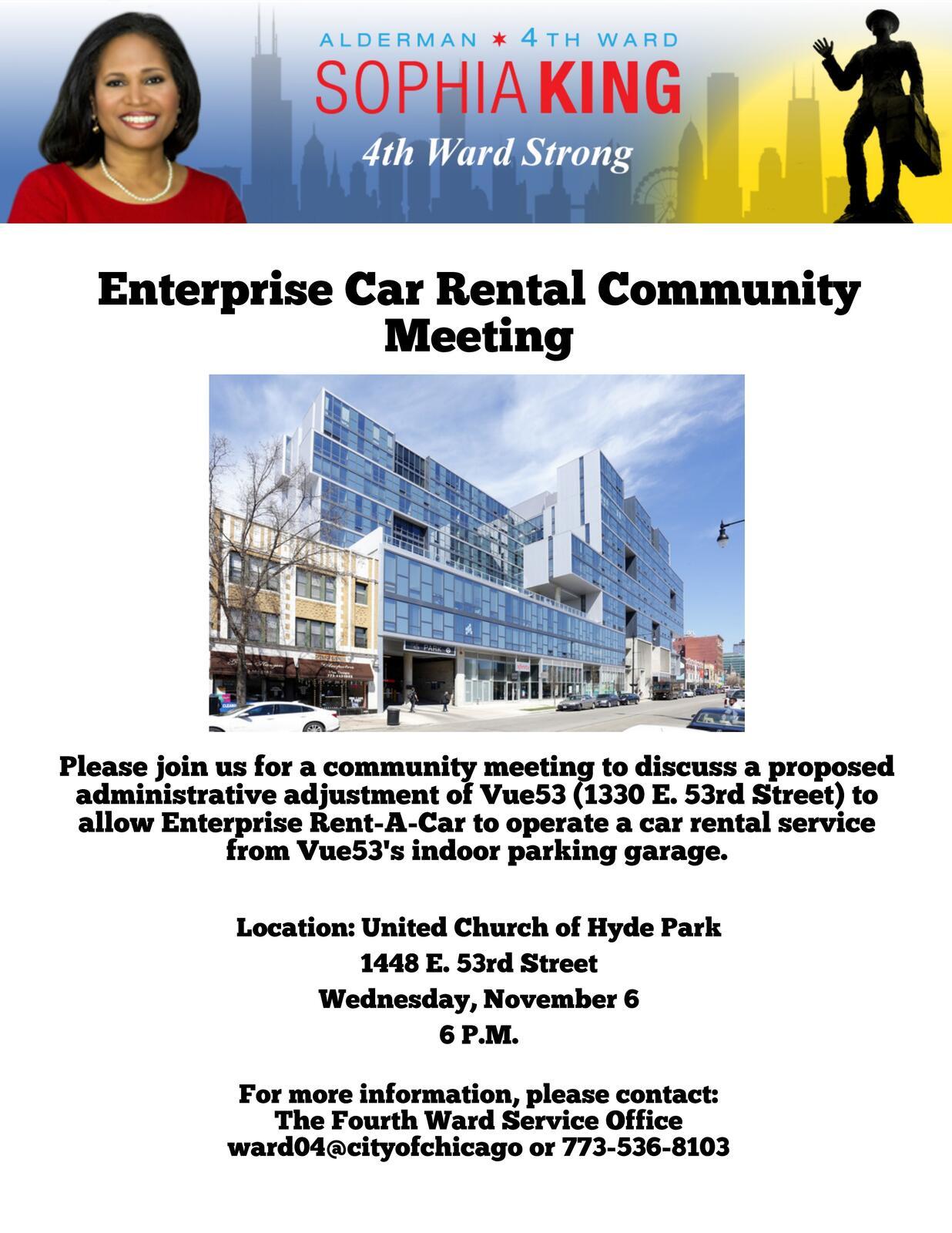vue53 enterprise car rental community meeting november 6 chicago city council mdash nextdoor nextdoor nextdoor