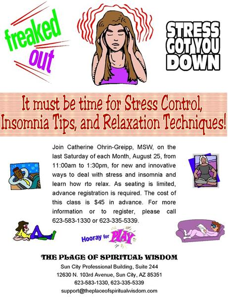aug 25 stress insomnia and relaxation techniques an experiential