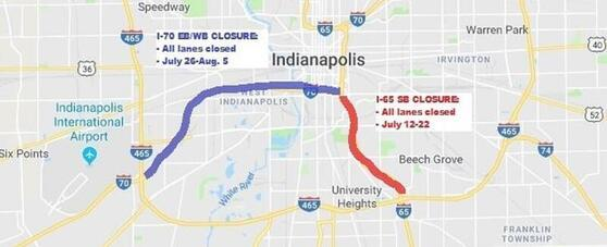 INDOT: Full Closures Planned for I-65, I-70 on the South ... on ahtd road conditions map, txdot road conditions map, wydot road conditions map, idot road conditions map, weather road map, toll road map, kdot road conditions map, arizona state highway road map, road closure map, modot road conditions map, cdot road conditions map, indiana road map, mdt road conditions map,
