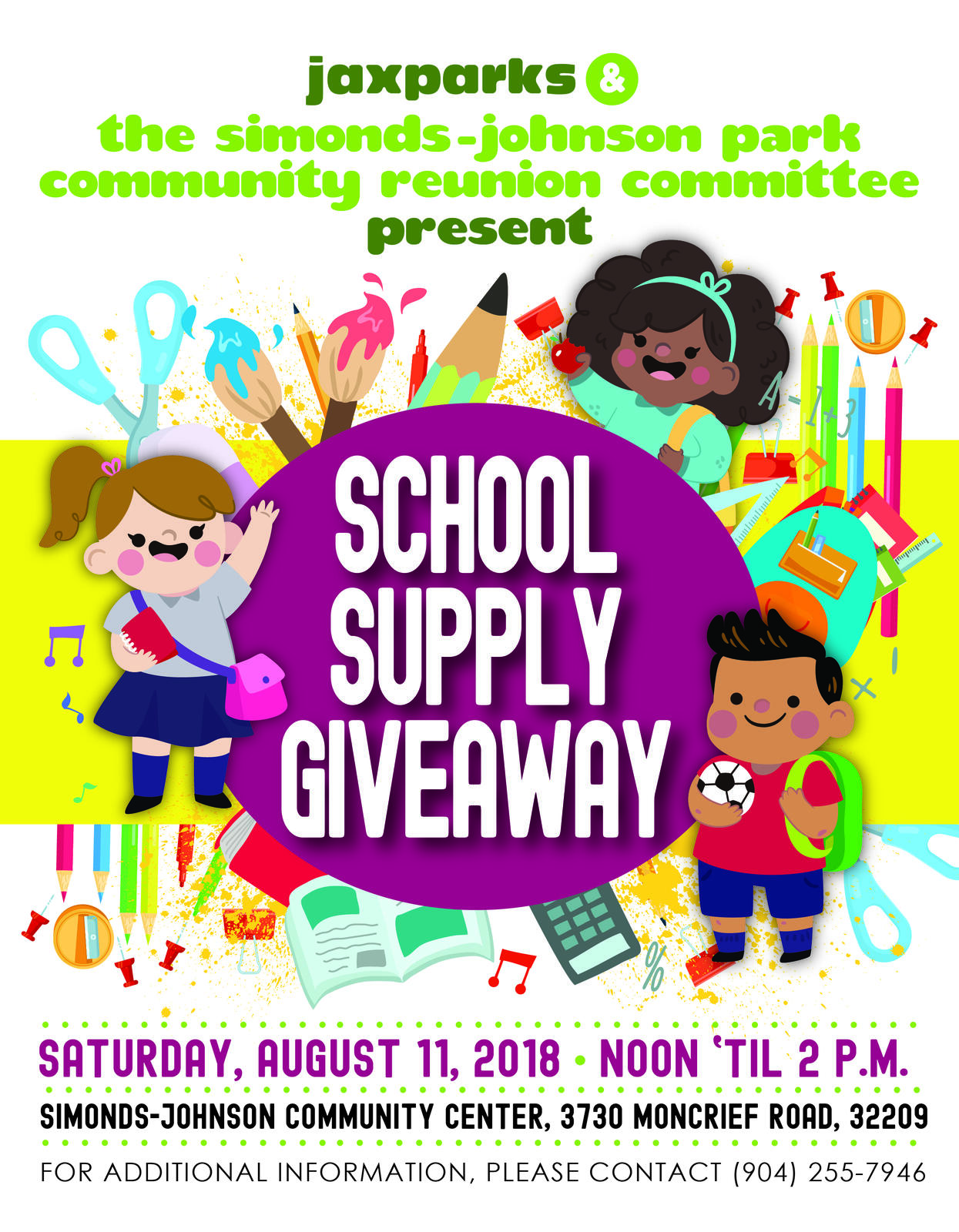 School supply giveaway 2018 jacksonville fl