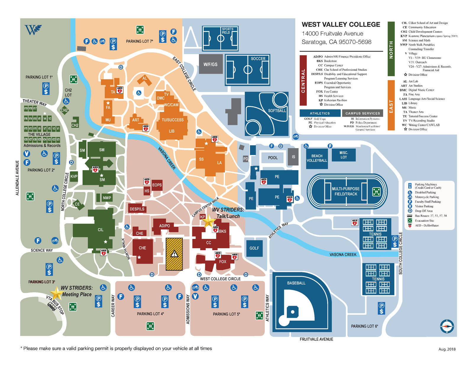west valley campus map West Valley Striders Kickoff April 27 City Of Saratoga Mdash west valley campus map