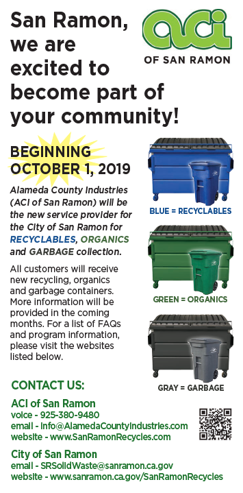New Garbage and Recycling Contract (City of San Ramon