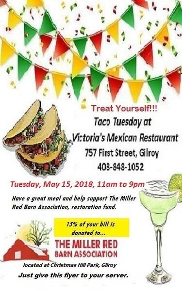 May 15 Taco Tuesday For The Miller Red Barn Association At