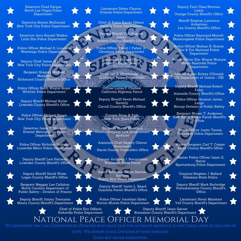 National Peace Officer Memorial Day (Greene County Sheriff's